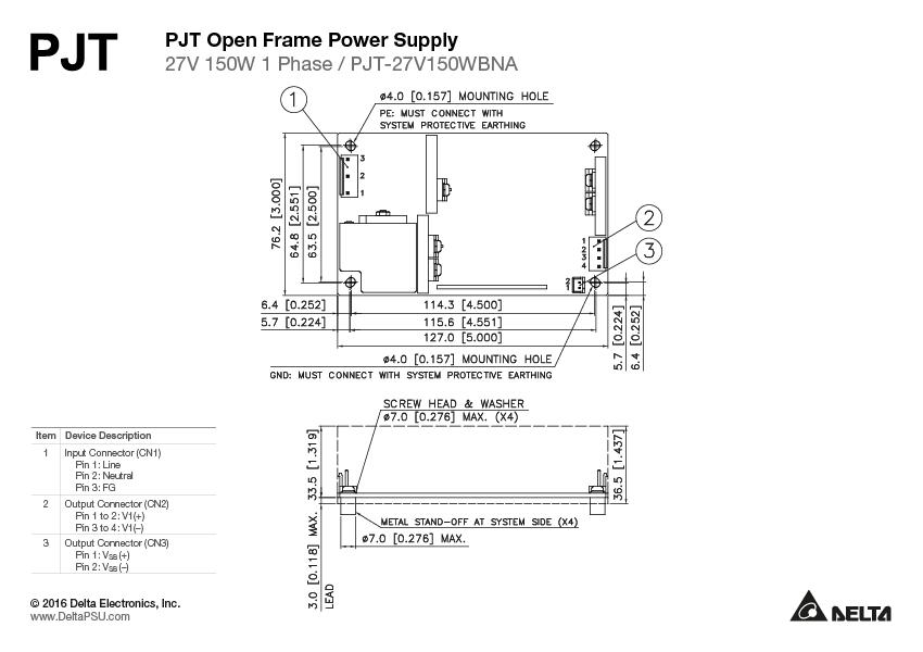 PJT-27V150WBNA - Delta Power Supply