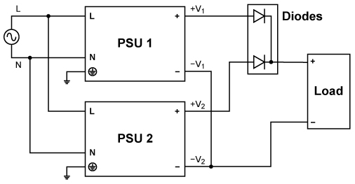 providing the system load (current rating of the power supply must not  be lower than system current demand)  see figure 3 below for connection  diagram