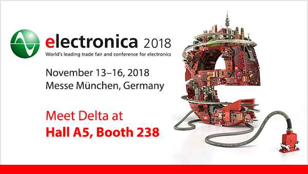 delta power supply will join electronica 2018 delta power supply